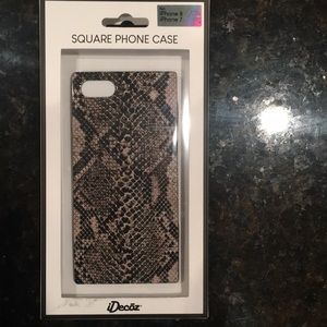 NWOT square phone case for iPhone 7 and 8